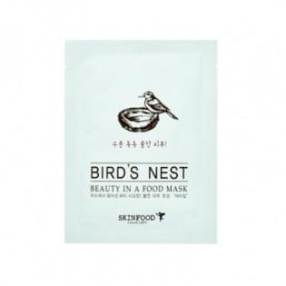 Маска для лица тканевая с ласточкиным гнездом Skinfood Beauty in a Food Mask Sheet, Bird's nest