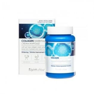 Крем ампульный для лица с коллагеном FarmStay Collagen Water Full Moist Cream Ampoule
