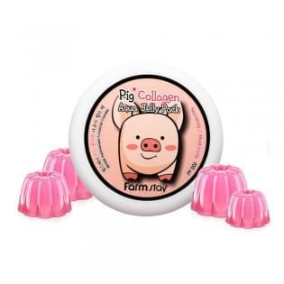 Маска-желе ночная увлажняющая со свиным коллагеном FarmStay Collagen Aqua Piggy Jelly Pack, 100 мл.
