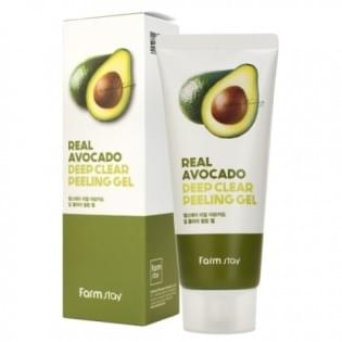 Отшелушивающий гель с экстрактом авокадо FarmStay Real Avocado Deep Clear Peeling Gel, 100 мл.