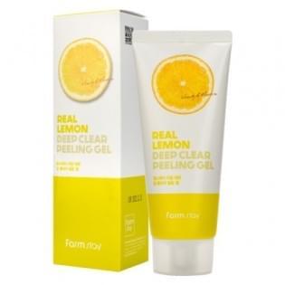 Отшелушивающий гель с экстрактом лимона FarmStay Real Lemon Deep Clear Peeling Gel, 100 мл.