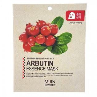 Маска тканевая MIJIN Arbutin Essence Mask (арбутин)