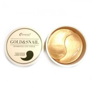 Гидрогелевые патчи для глаз с золотом и улиточным муцином ESTHETIC HOUSE GOLD&SNAIL HYDROGEL EYEPATCH, 60 шт.