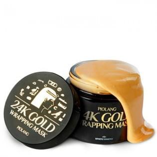 Маска для лица с 24 каратным золотом  Esthetic House PIOLANG 24k GOLD WRAPPING MASK, 80 мл.