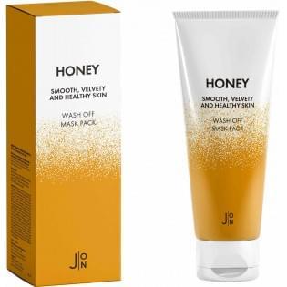 Маска для лица медовая J:ON Honey Smooth Velvety and Healthy Skin Wash Off Mask Pack, 50 гр