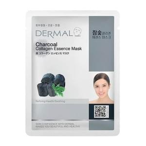 Маска д/лица ткан. УГОЛЬ и КОЛЛАГЕН - для жирн. кожи Charcoal Collagen Essence Mask, 23 гр