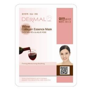 Маска д/лица ткан. КРАСНОЕ ВИНО и КОЛЛАГЕН - выравнивающая Wine Collagen Essence Mask, 23гр