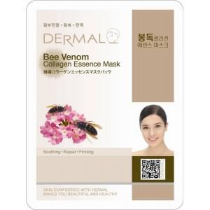 Маска д/лица ткан. ПЧЕЛИНЫЙ ЯД и КОЛЛАГЕН - эластичнось Bee Venom Collagen, 23 гр