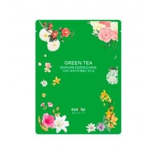 Маска для лица тканевая с зеленым чаем EYENLIP GREEN TEA OIL MOISTURE ESSENCE MASK