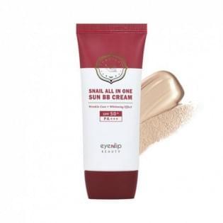 Крем ББ для лица улиточный EYENLIP  Snail All In One Sun BB Cream #23 Natural Beige, 50 мл.