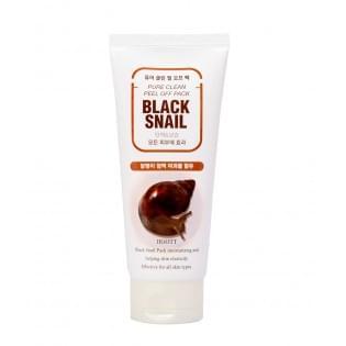 Очищающая маска-пленка с экстрактом слизи черной улитки Jigott Black Snail Pure Clean Peel Off Pack, 180 мл.