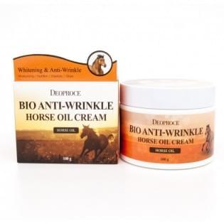 Крем антивозрастной на основе экстракта лошадиного жира Deoproce Bio Anti-Wrinkle Horse Cream, 100 мл.