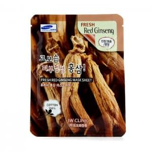 Тканевая маска с красным женьшенем 3W Clinic Fresh Mask Sheet  Red Ginseng
