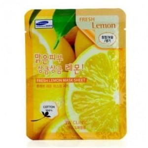 Тканевая маска с лимоном 3W Clinic Fresh Mask Sheet Lemon