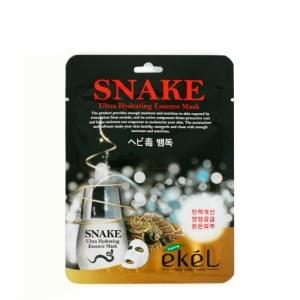 Маска со змеиным ядом  EKEL Snake Ultra Hydrating Essence Mask