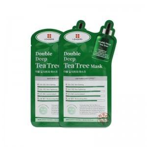 Тканевая маска быстрого действоия с экстрактом чайного дерева Leaders Double Deep Tea Tree Mask