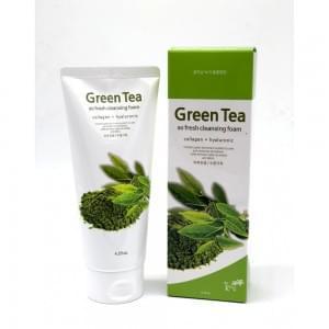 Пенка очищающая Kkotminam Green Tea So Fresh Cleansing Foam Collagen + Hyaluronic