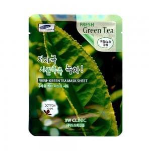 Тканевая маска с зеленым чаем 3W Clinic Fresh Mask Sheet (23 мл) Green Tea