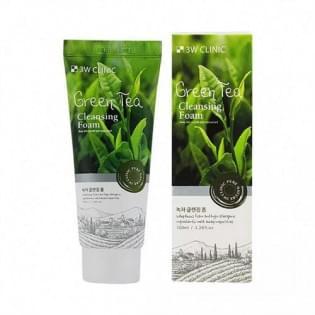 Пенка для умывания с экстрактом зеленого чая 3W Clinic Green Tea Foam Cleansing