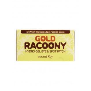 Патчи для глаз гидрогелевые Secret Key Gold Racoony Hydrogel & Spot Patch, 60 шт.