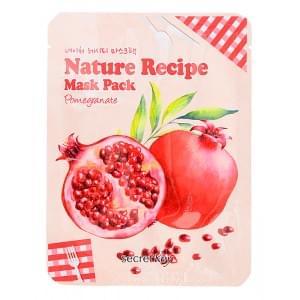 Маска тканевая гранат Secret Key Nature Recipe Mask Pack_Pomegranate