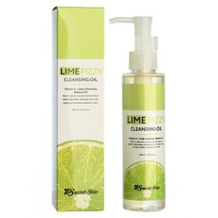 Масло гидрофильное с лаймом Secret Skin LIME FIZZY CLEANSING OIL, 150 мл.